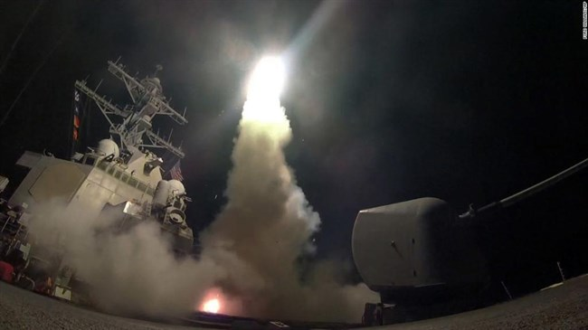 US strikes Syria airbase, draws Iran, Russia condemnation