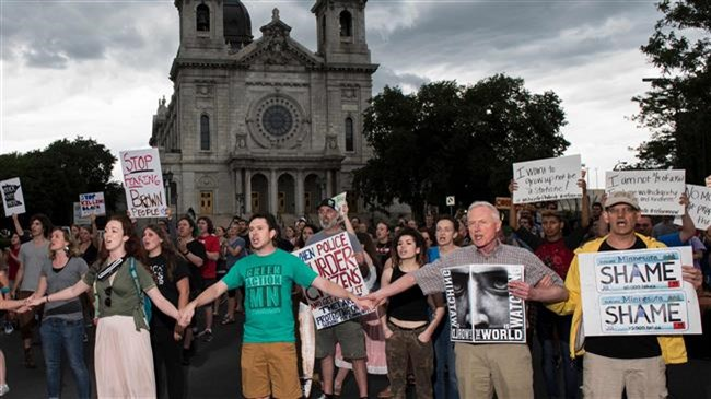 Protests against police brutality continue in US