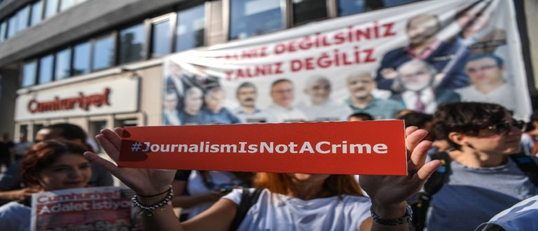 Anti-Erdogan journalists tried in Turkey on 'terror' charges