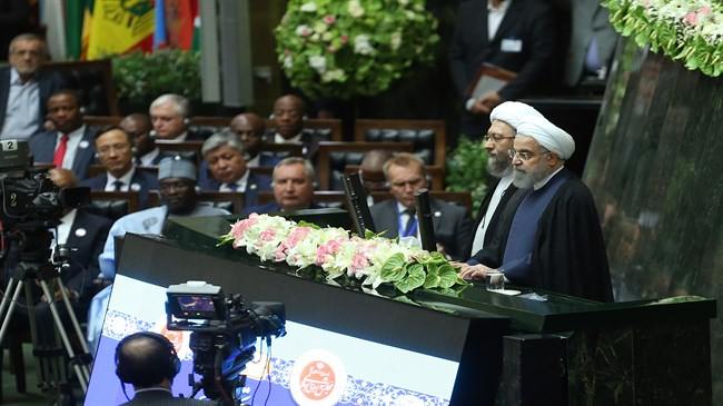 Messages of Rouhani's swearing-in ceremony