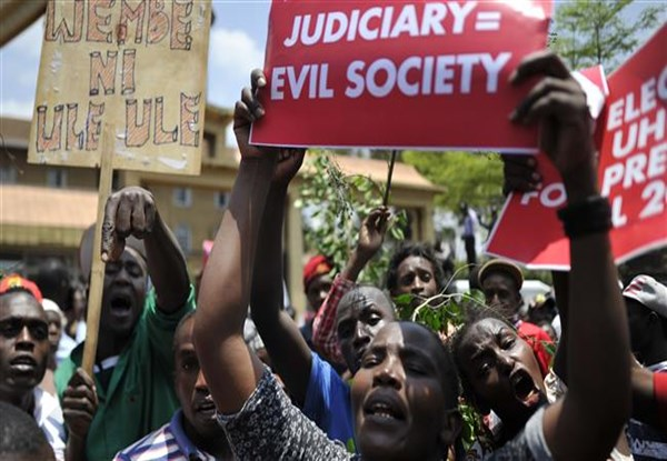 Police fire teargas to disperse election protesters in Kenya