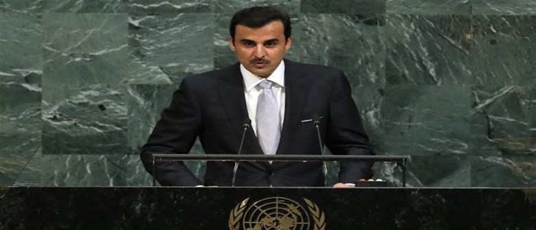 Qatar's emir takes Persian Gulf crisis to global audience