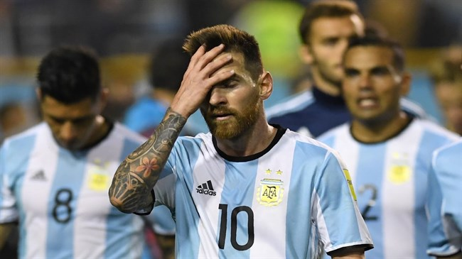Messi, Argentina in danger of missing out on World Cup qualification
