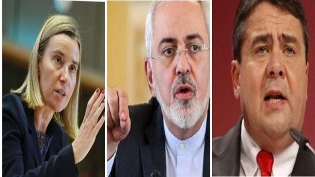 Mogherini, Gabriel talk with Zarif over phone