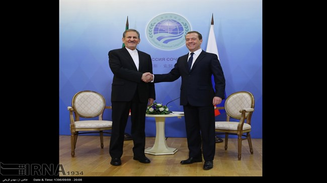 Jahangiri meets with Medvedev in Sochi