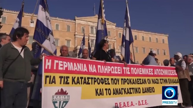 Protesters demand Germany pay WWII reparations to Greece (Video)