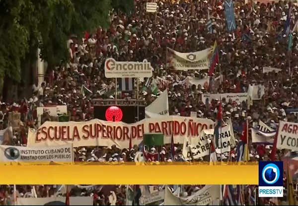 Huge May Day in Cuba backs new leaders and revolution (Video)