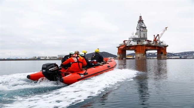 Environmental activists board Equinor rig set to drill in Arctic