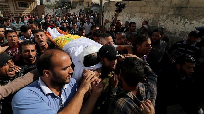 Funeral for Palestinian killed during Israeli airstrike