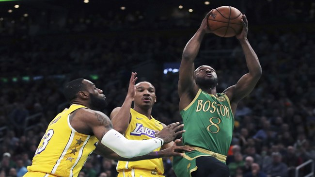 Kemba beats LeBron for first time, Celtics top LA 139-107