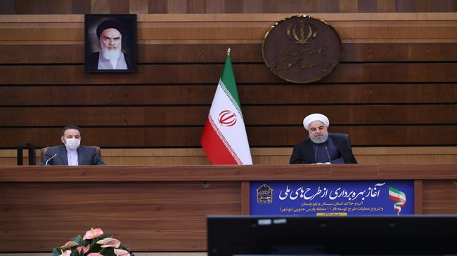 Rouhani inaugurates three water, agriculture projects