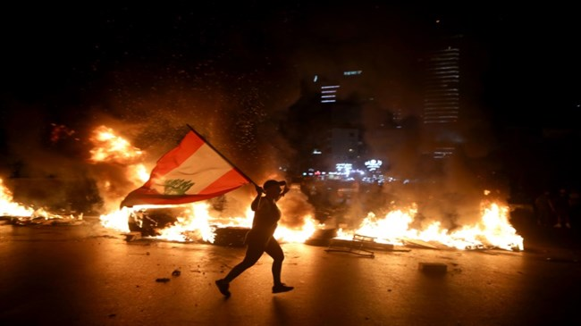 Lebanon in crisis talks as currency plunge sparks protests