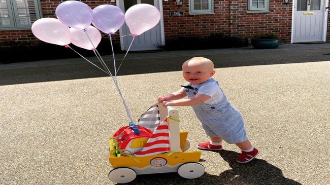 Toddler walking 100 lengths of his driveway for NHS