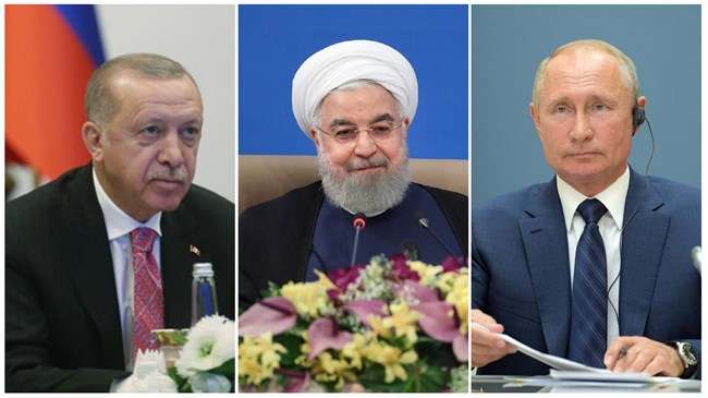 Iran, Russia, Turkey urge political solution to Syria conflict