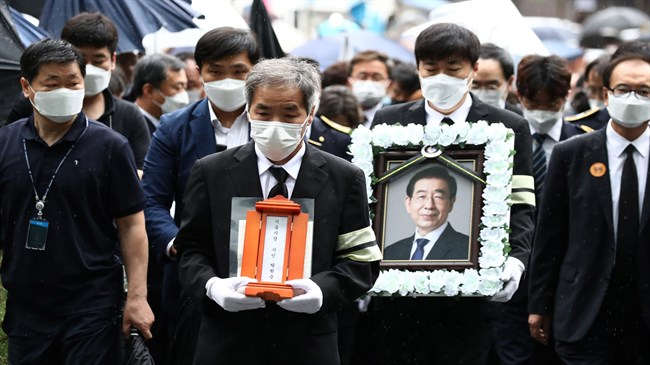 Anger at use of public funds for Seoul mayor's five-day funeral
