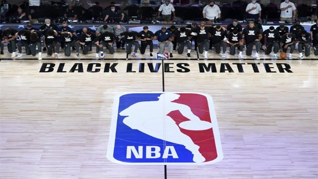 NBA players protest racial injustice as league returns to action