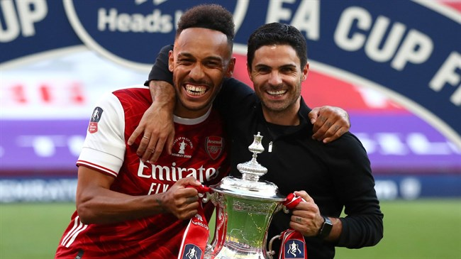 Arteta wants to 'build Arsenal around Aubameyang' after FA Cup win