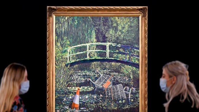 Banksy's Monet tribute to go on sale for up to £5m