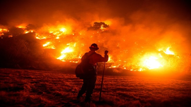 'We're in unprecedented waters,' says California firefighter