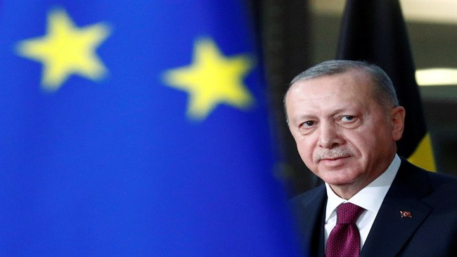 Erdogan says Turkey's place is in Europe before EU summit