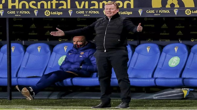 Barca lacked focus, attitude in Cadiz loss, says angry Koeman