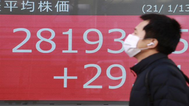 Asian equities, commodities gain on economic recovery trade