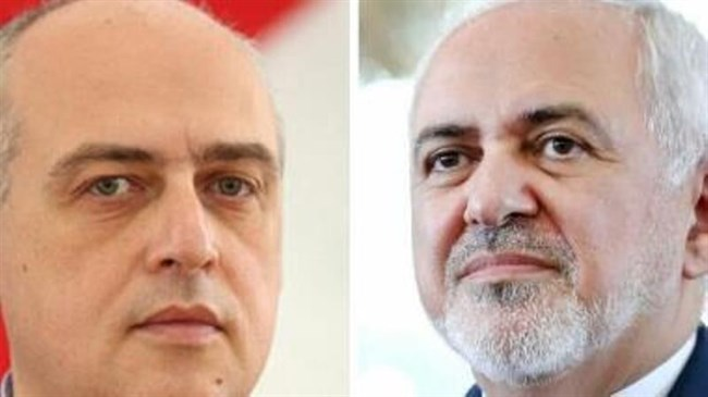 Zarif congratulates reinstatement of his Georgian counterpart