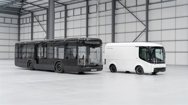 Electric bus maker Arrival schedules first UK road trial