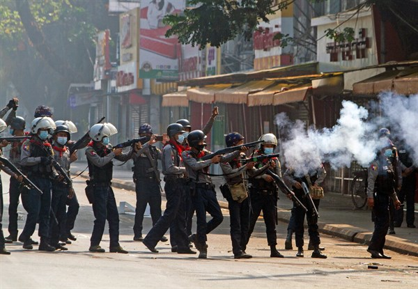 At least 18 protesters killed after Myanmar police open fire at protesters