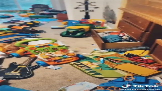 Mum throws out five-year-old son's toys when he refuses to clean his room
