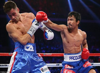 Pacquiao scores six knockdowns in title defense